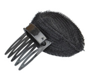 2 Pcs Women Bump up Volume Inserts Pad Clips Comb Insert Tool Hair Comb Base Hair Accessories Black