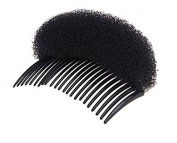 2 Pcs Women Bump It up Hair Volume Comb Hair Styling Sponge Clip Hair Inserts Tool Hair Base Black