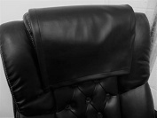 Vinyl, faux leather PVC Black ,14x30 Sofa Loveseat Chaise Theatre Seat, RV Cover, Chair Caps Headrest Pad, Recliner Head Cover, Furniture Protector