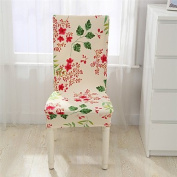 WWQY Flower print chair covers catering elastic cover multifunction spandex stretch fabric