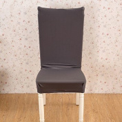 WWQY Super stretch fit removable washable short dining chair cover protective seat covers , dark grey