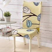WWQY Form Fit Classic Chair Cover , Polyester Fabric Type Slipcovers , yellow