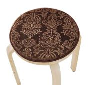 [Coffee] Velvet Round Stool Cover Stool Cushion Bar Stool Mat Seat Pad