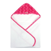 My Blankee Newborn Hooded Luxe Towel, Snail Raspberry