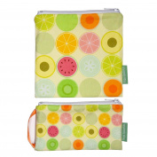 Sage Spoonfuls Reusable Sandwich and Snack Bag Snackie and Munchie Set, Fruit Dots