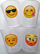 Premium Cups for Kids Toddlers BPA Free Unbreakable Drinking Cups 240ml Emoji Design