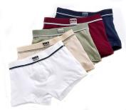 FANTASIEN Assorted Colour Underwear Brief Boy - Boys Boxer Briefs 5-pack - Underwear Brief Boy (XXL