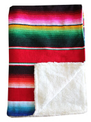Del Mex Baja Baby Mexican Serape Baby Toddler Blanket paired with Soft Sherpa