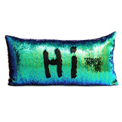 "[GIFT CHOICES] Magic Reversible Sequins Pillow Cases Mermaid Pillow Cases Throw Pillow Covers Decorative Pillowcase 3060cm(1224"")"