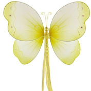 The Butterfly Grove Briana Mesh/Nylon 3D Hanging Decoration, Yellow Daffodil, Medium/28cm X 18cm