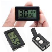 minishop659 Mini Black Digital Hygrometer LCD Indoor Temperature Humidity Gauge