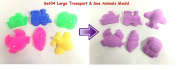 6pcs Large Transport and Sea Animals Mould Set (04) for Kinetic Magic Motion Moving Various Sand