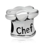 925 Sterling Silver Chef Charm Hat Charm Cooking Charm Anniversary Charm Birthday Charm for Pandora Charms Bracelet