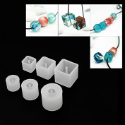 WXLAA 6pcs Silicon Resin Casting Round Square Mould Jewellery Mould DIY Craft Making