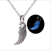Glow in the Dark Wing Necklace,Glow Angel Wing Necklace - Fairy Wings - Glow Wing Necklace - Glow Magic Wings Necklace - Faerie Wings - Glow Angel Wings Jewellery