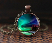 Northern lights pendant, northern light Jewellery, light necklace, Aurora Borealis necklace, Aurora necklace