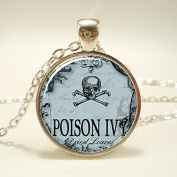 Poison Necklace, Spooky Halloween Jewellery, Esoteric Jewellery, Poison Ivy Pendant