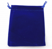 AEAOA Pack of 25 Royal Blue Velvet Gift Bags Drawstring Jewellery Pouches Candy Bags Wedding Favours
