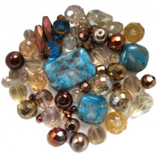 Blue ~ Copper ~ Beige Bead Kit