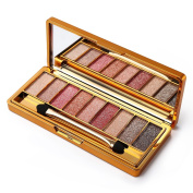 9 Colours Diamond Bright Colourful Eye Shadow Palette Glitter Eyeshadow Palette with Mirror