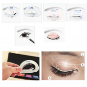 KaiCran Beauty Eye Card Smokey Shaper Makeup Tool Eye Shadow Template Eyeliner Stencil Model