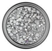Silver Rhinestones in 5mm for Flatback Nail Art Cabochon Diy Decoration and Craft