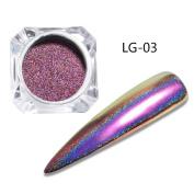 Mermaid Chrome Nail Powder,SMYTShop Neon Iridescent Unicorn Nail Powder Manicure Pigment for Nail Art
