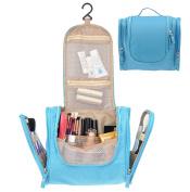 Waterproof Hanging Toiletry Bag,Portable Travel Cosmetic Makeup Bag Travel Kit Organiser Bag Blue