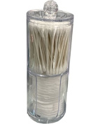 Acrylic Round Cosmetic Pad Dispenser, Facial Beauty Cotton Swab Container Holder Organiser