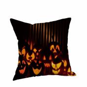 Halloween Pillow Cases,Tsmile Linen Sofa Cushion Cover Home Decor