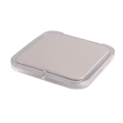 SQUARE COMPACT MIRROR, Double Sided PMMA Travel Makeup Mirror with 1x/5x Magnification and assorted colours