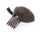 2 Pcs Women Bump up Volume Inserts Pad Clips Comb Insert Tool Hair Comb Base Hair Accessories Brown
