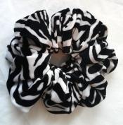 Zebra Velvet Hair Scrunchies-Jumbo - Made in the USA