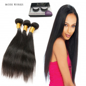 Straight Hair Bundles Peruvian 7A Human Virgin Hair Unprocessed Human Natural Hair Extensions 3 Bundles Natural colour