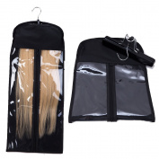 Portable Hair Extensions Hanger + Dust-proof Protection Non-woven Carrier Zipper Suit Case Bag Package for Hair Extensions Storage