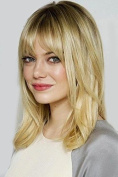 Wigs for Women Gold Gradient Colour Wig Synthetic Women's Wigs 41cm Curly Wonderful Natural Wig