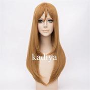 Kadiya Role Play Fashion Light Brown Long Girl Cosplay Costume Wig Anime Hair