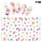 Nial Sticker, Charberry 1 Sheet Women Self-adhesive Nail Art Nial Sticker Halloween Designs Girl Beauty Nail Tools