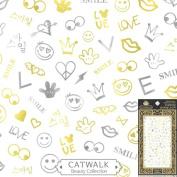 Catwalk Premium Peel-N-Stick Metallic Nail Stickers