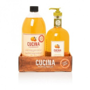 Cucina Hand Soap (500ml) and Refill (950 ml) Hand Soap - Sanguinelli Orange and Fennel