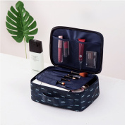Yiuswoy Multifunction Travel Cosmetic Bag Portable Makeup Case Toiletry Storage Organiser with Mesh Pockets - Feathers