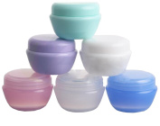 6PCS 5G Mushroom Shaped Face Cream Bottles -Refillable Make-up Cosmetic Jar Pot Portable Travel Container For DIY Beauty Cosmetics Cream Lotion Storage Containers Colour Random