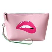 Women Travel Cosmetic Bag Sassy Lips, Makeup case organiser, toiletry bag, ideal for storage, beauty, make up brushes, manicure pedicure, for handbag 1 bag
