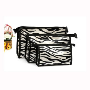 Lavany 3pcs Cosmetic Bag Toiletry Travel Wash Makeup Holder Pouch Kits Set