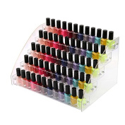Healthcom Nail Polish Organiser Makeup Organiser Acrylic Nail Polish Holder Cosmetic Storage Display Stand,5 Tier