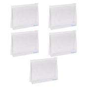 BCP 5 PCS Small PVC Transparent Plastic Cosmetic Organiser Bag Pouch With Zipper Closure,Travel Toiletry Makeup Bag