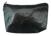 Shiny Black Unisex Zipper Travel Cosmetic Bag Great for Kids, Teens, & Adults! 23cm . x 13cm .