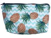 Pineapple Zig-Zag Stripe Zipper Travel Cosmetic Bag Great for Kids, Teens, & Adults! 23cm . x 13cm .