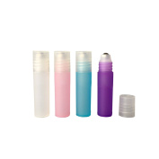 Plastic Empty Frosted 10 Pcs Multicolor Perfume Roller Bottle Refillable Aromatherapy Essential Oil Rollerball Bottles Roll On Bottles DIY Separation Bottles Container
