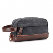 Vintage Canvas Travel Toiletry Bag for Men Wash Bag Organiser Bags Accessories Toiletries Shaving Dopp Kit